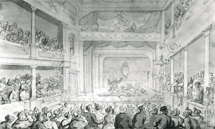 Old Orchard Street Theatre, by Thomas Rowlandson, c.1790