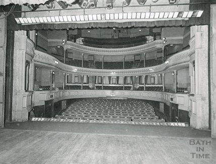 Theatre Royal Bath, view from the Stage, 1964