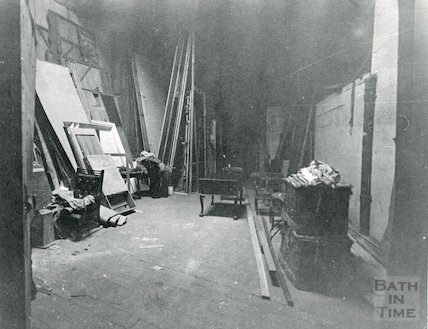 Theatre Royal Bath, Scenery Storeroom, 1964