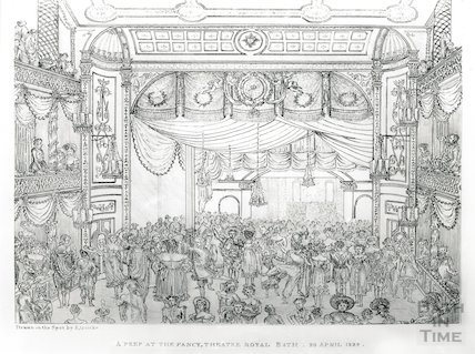 A Peep at the Fancy Theatre Royal, Bath, 23 April 1824
