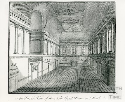 An inside view of the New Great Rooms, Assembly Rooms, Bath, c.1771