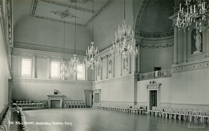Assembly Rooms, Ball Rooms showing musicians gallery, 1932