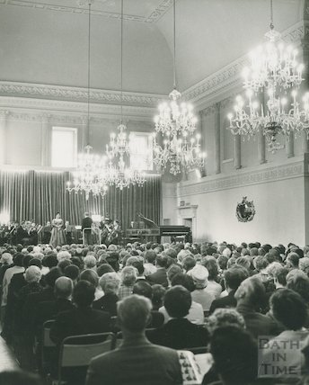Concert in the ballroom at the Assembly Rooms, c.1965