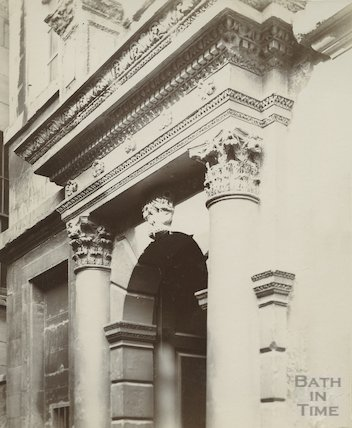 Doorway to Beau Nash's House, Saw Close, c.1880