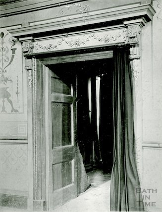 Detail of doorway (the tea room), Assembly Rooms c.1909