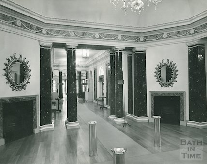 Assembly Rooms, the small Octagon Room and main corridor, c.1960s