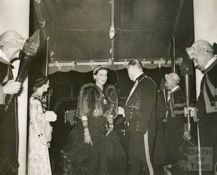 Assembly Rooms Re-opening Ball. Arrival of The Duchess of Kent, 1938