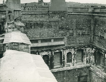 Assembly Rooms, Bath after bombing in the Bath Blitz, 1942