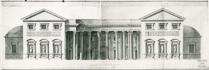 Assembly Rooms Section through the Ball and Concert Room at Bath, by Robert Adam, 1933