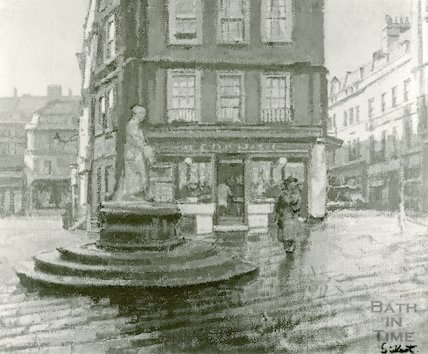 Temperance Fountain, from a painting by Walter Sickert, c.1917