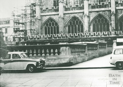 Re-roofing Kingston Baths and repairs to the Abbey, c.1960s