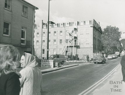 Barton Street after demolition of Whiting's Garage, 1972