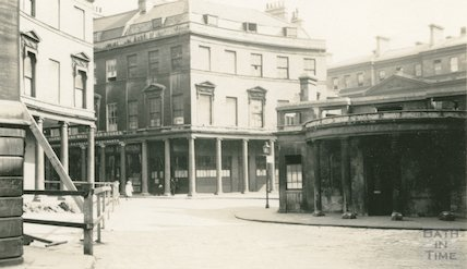 Bath Street from St. Michael's Place and Cross Bath, c.1915