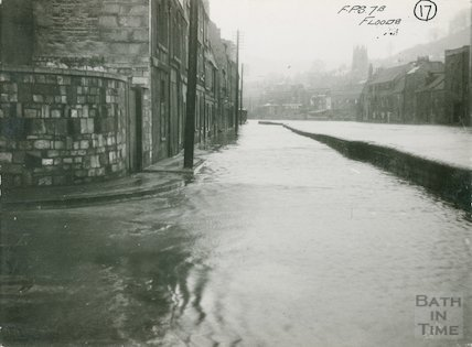 Broad Quay Floods, possibly 1937