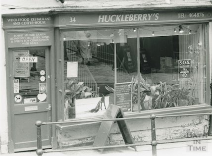 Huckleberry's Wholefood Restaurant, 34 Broad Street, April 1991
