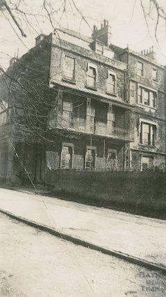 Brock Street - rear of house, c.1920s
