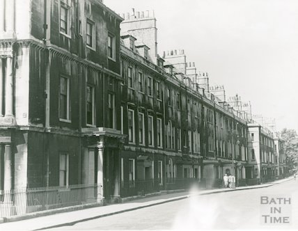 Brock Street - South side from Circus to Royal Crescent, c.1950s?