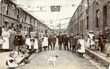 Queen Victoria's Diamond Jubilee Street Party, South View Road, East Twerton, 1897