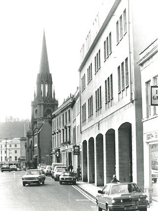 St Michael's Church from Walcot Street, Bath, 1983