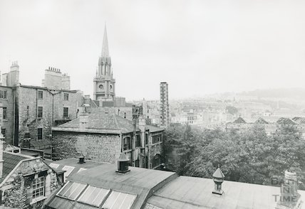 View over the Walcot Street Redevelopment site, 1970