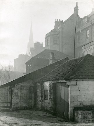 Rear of Three Tuns, Walcot Street, c.1930