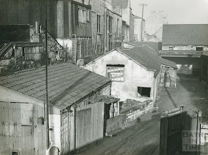 Rear of Walcot Street, from the tram shed, c.1930s?