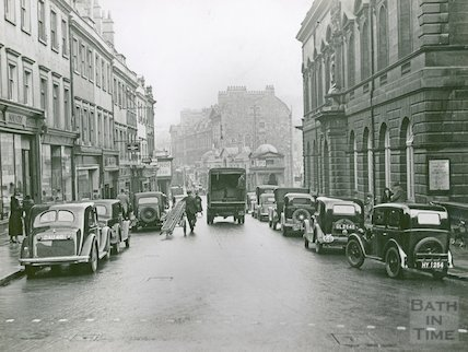 Bridge Street, Bath, Friday 11.55am, c.1930s