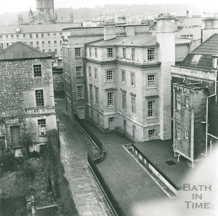 Chandos Buildings, site of Citizen House near foreground, left, 1972