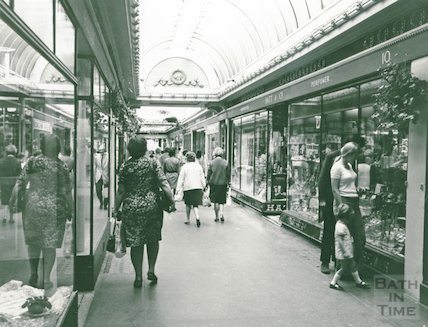 The Corridor from the direction of Union Passage, August 1973