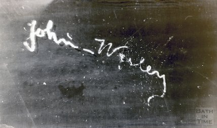 Signature of John Wesley at 4 Edgar Buildings, 1964