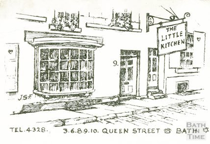 Postcard illustration of The Little Kitchen, 3,6,8,9,10 Queen Street, c.1950s?