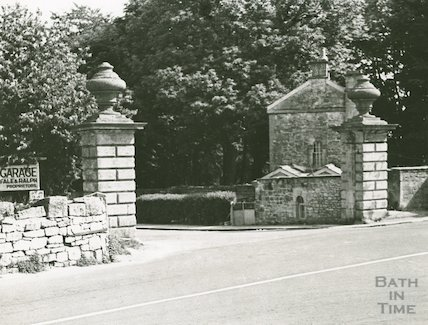 The top of Ralph Allen's Drive from North Road, Combe Down, c.1950s