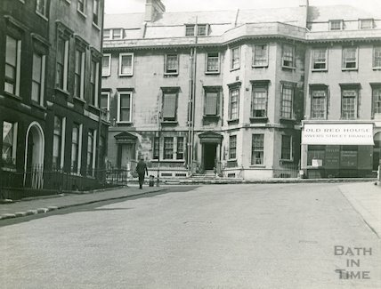 Albany Street, No.30 Rivers Street, seen from Russell Street, Bath, c.1950s