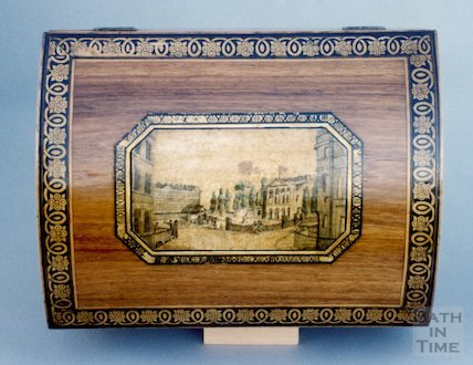 Sydney Place, aquatint on lid of casket, from 1805?