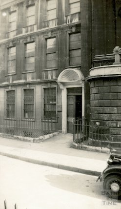 Trim Street, door case with shell hood, c.1930