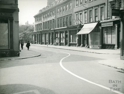 Wood Street, Bath, viewed from Quiet Street, c.1950s