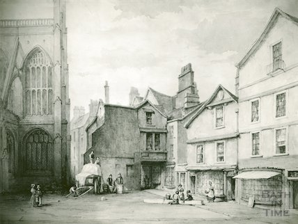 Wade's Passage and North Transept, Bath Abbey, c.1820