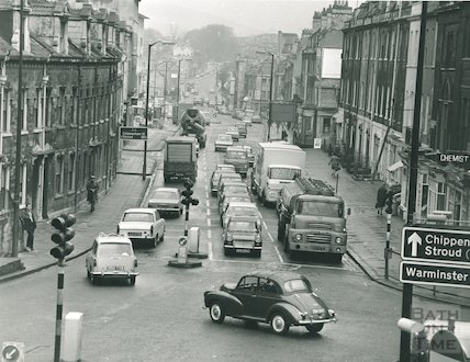 London Road from Cleveland Bridge Intersection, April 1969
