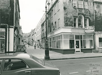 Margaret's Buildings looking towards Catharine Place, 1976