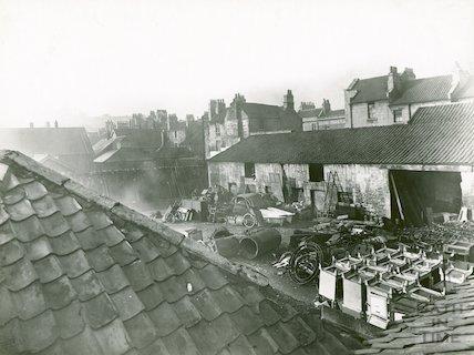 Charles Derrick's Yard, 21 Avon Street (between Avon Street and Peter Street), c.1930