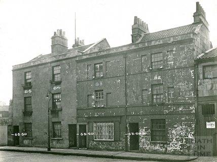 Dilapidated buildings in Milk Street, Bath c.1930s