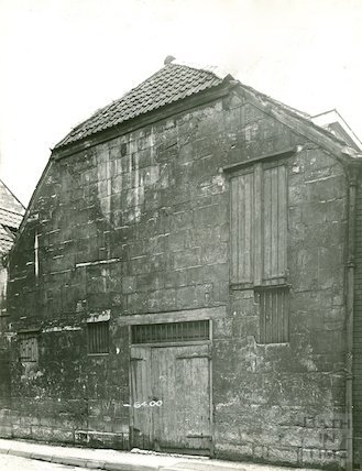 Back Street, rear elevation of Bowlers of Corn Street, c.1930s