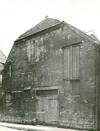 Back Street, rear elevation of Bowlers of Corn Street, c.1930s