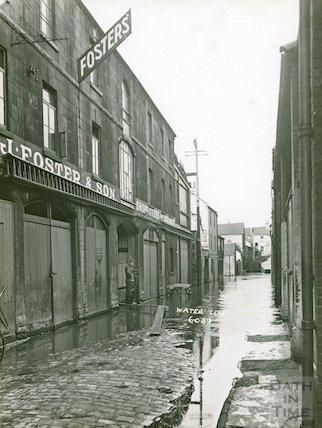 Flooding in Back Street, February 1937