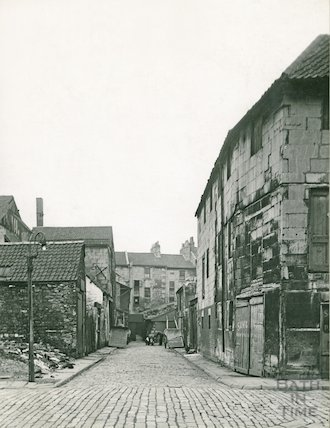 Back Street looking west from Little Corn Street, c.1930s
