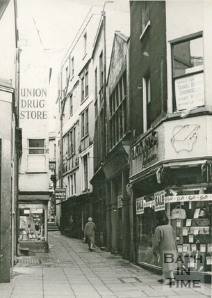 Rickards and Union Drug Store, Burton Street, Union Passage, Bath, c.1950s