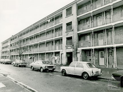 Kingsmead East  flats, 1976