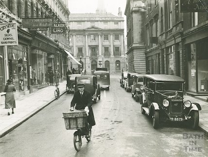Quiet Street looking towards Milsom Street, c.1930s