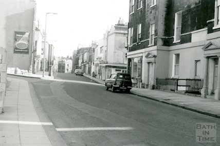 Julian Road from St. Marys Catholic Church looking east, 1966