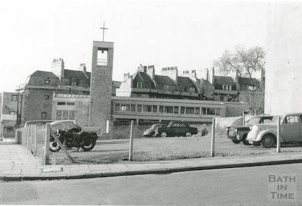 The new St Andrews Church, Julian Road (looking west), 1966